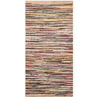 Handmade One-of-a-Kind Wool Kilim (India) - 2'5 x 4'6