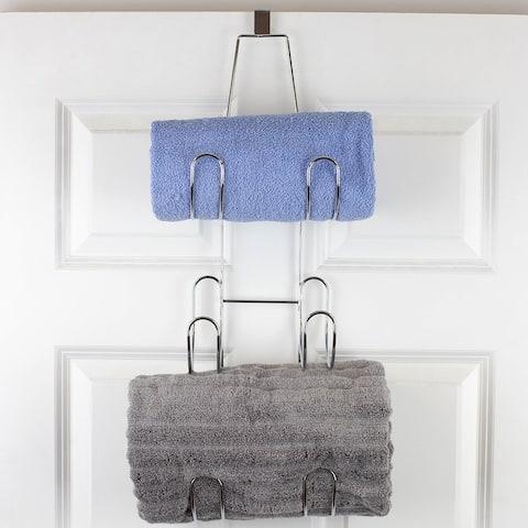 3 Tier Over The Door Towel Holder, Chrome