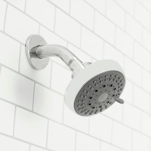 Sunbeam Revitalize 5 Function Fixed Shower Head, Chrome
