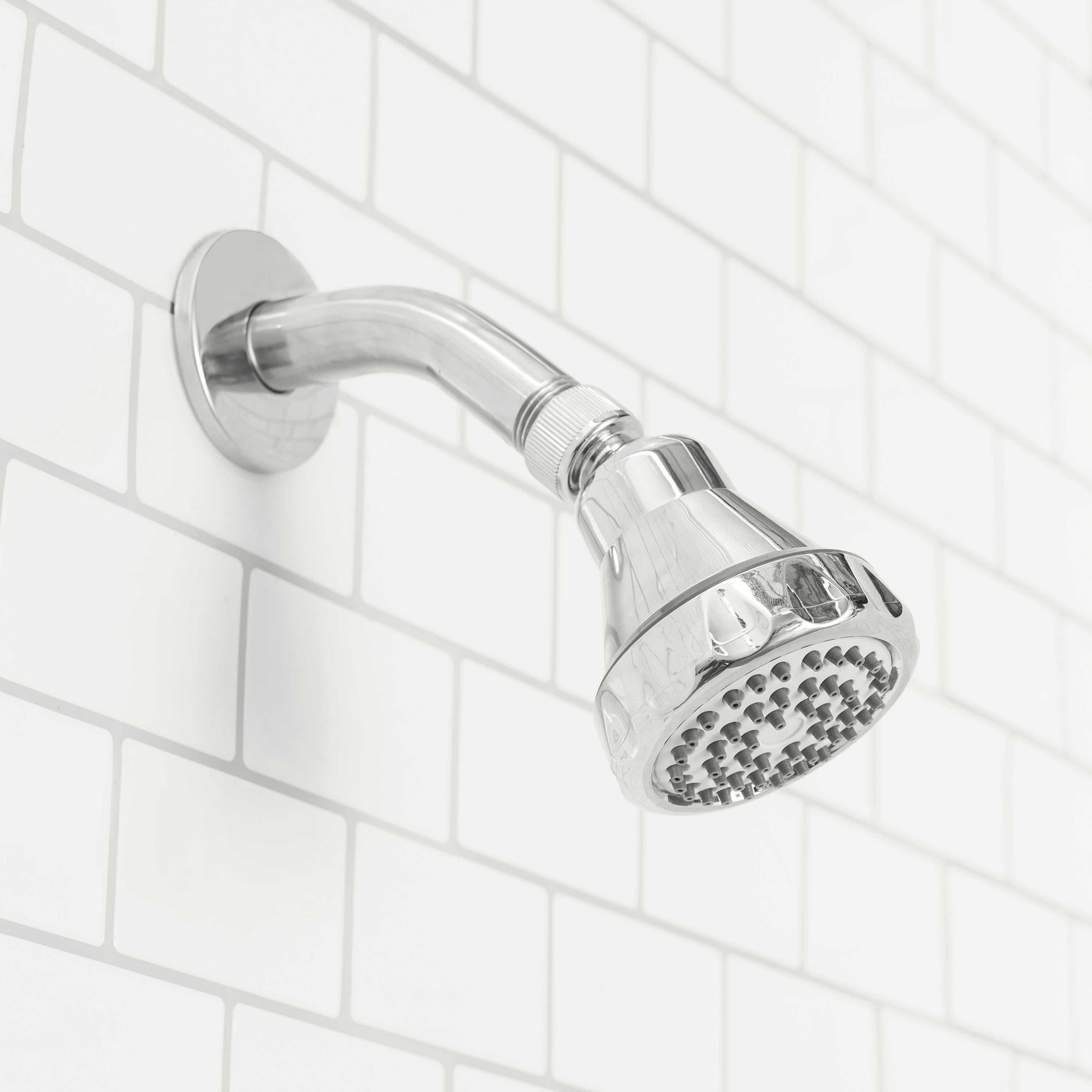 Sunbeam Oasis Single Function Fixed Shower Head, Chrome