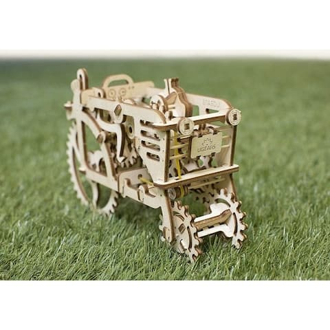UGEARS Tractor Mechanical 3D Puzzle Wooden Construction Set DIY Craft Kit