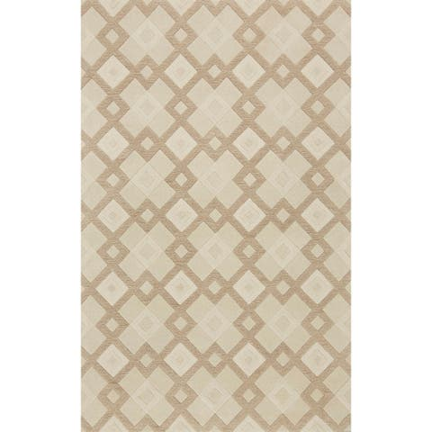 Carson Carrington Kuelbo Hand-tufted Wool Geometric Rug