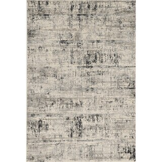 Strick & Bolton Caspi Ivory/ Silver Abstract Rug