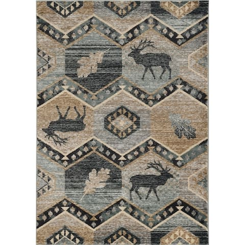 Carbon Loft Yoho Woodlands Rustic Tribal Rug