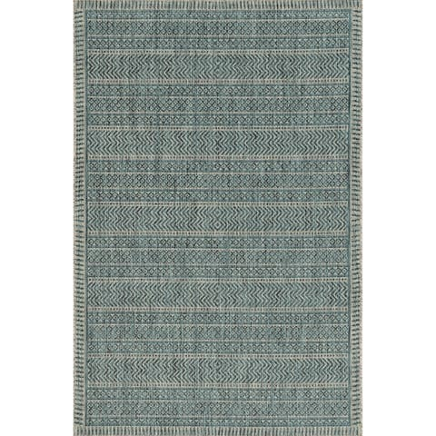 Porch & Den Ziebart Teal Horizon Area Rug
