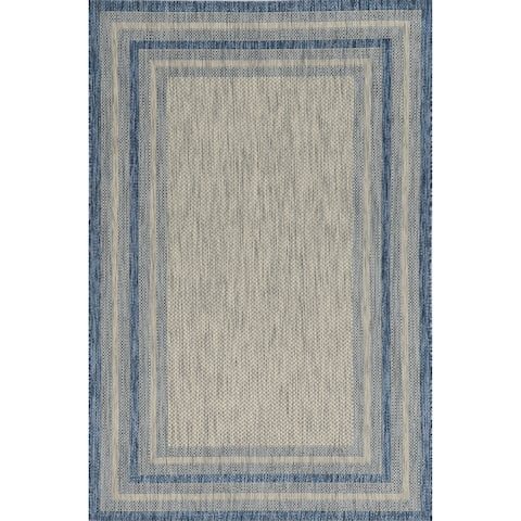 Porch & Den Costelloe Costelloe Grey/ Denim Area Rug