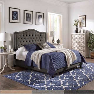 Copper Grove Gottleuba Adjustable Diamond-tufted Camel-back Bed