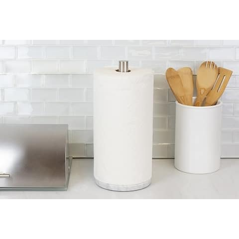 Stainless Steel Paper Towel Holder with Marble Base