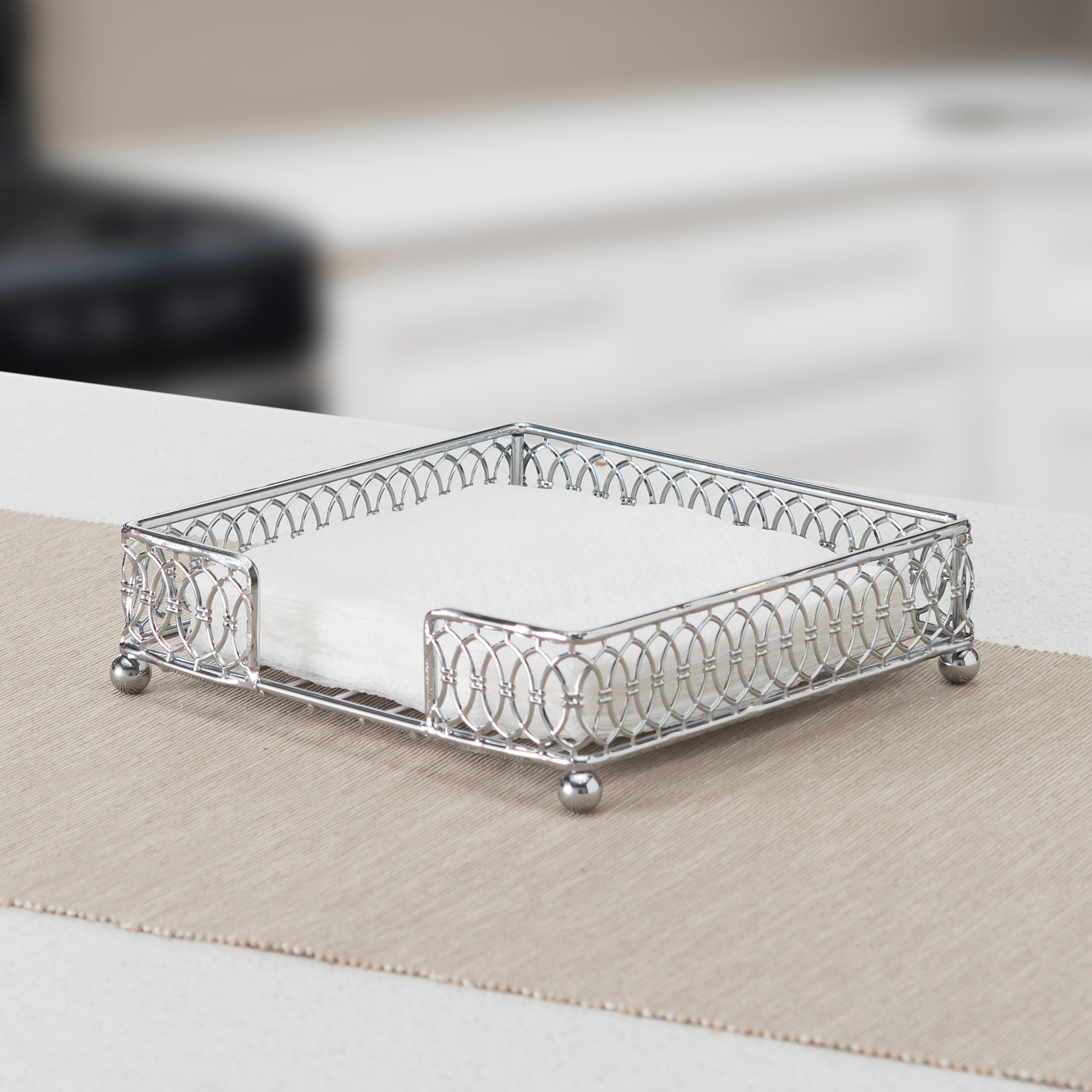 Infinity Collection Flat Napkin Holder Chrome Overstock 28133884