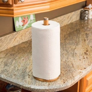Link to Bamboo Paper Towel Holder with Stainless Steel Finial Similar Items in Kitchen Storage