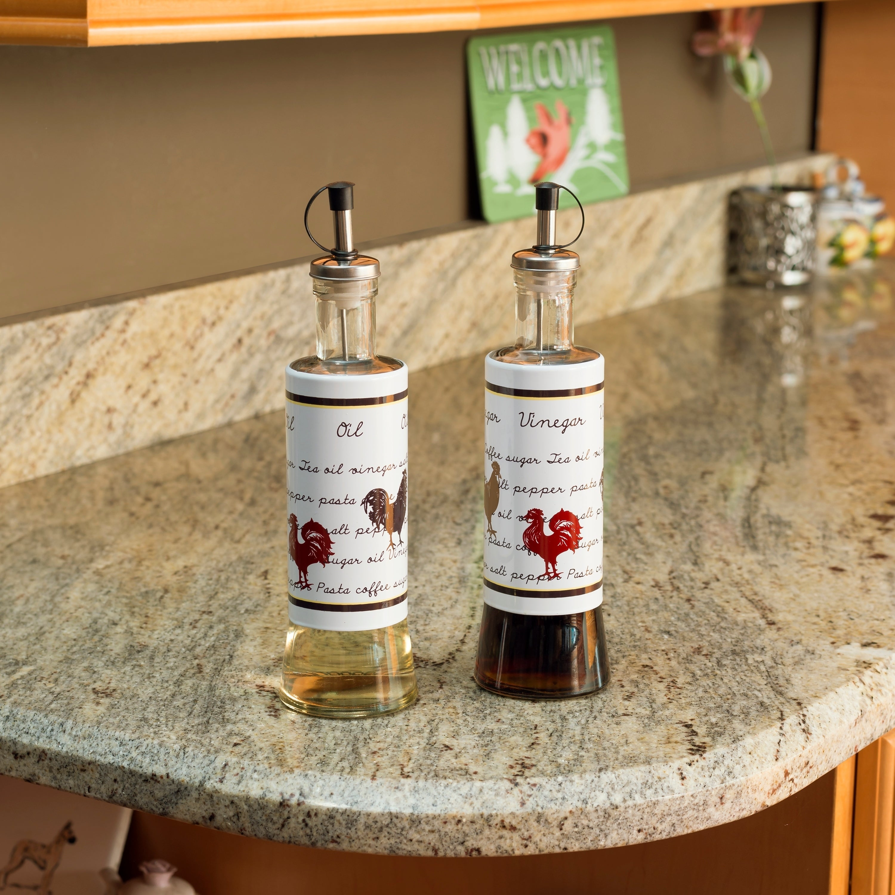 Stainless Steel Oil And Vinegar Set