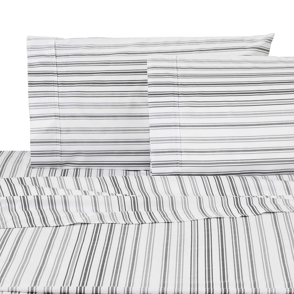 IZOD Double Plaid Full Super Soft Deep Pocket Sheet Set 100/% Microfiber Fade and Wrinkle Resistant Khaki//Gray