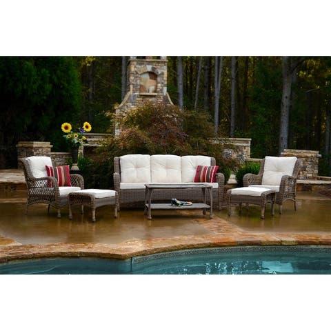 Coal Bay 6-piece Outdoor Wicker Sofa Set by Havenside Home