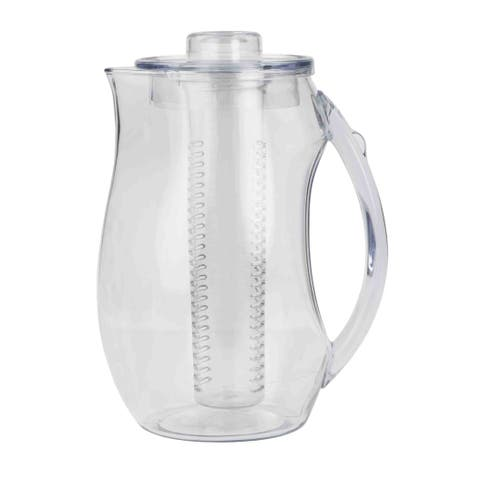2 Liter Plastic Fruit Infuser Pitcher, Clear