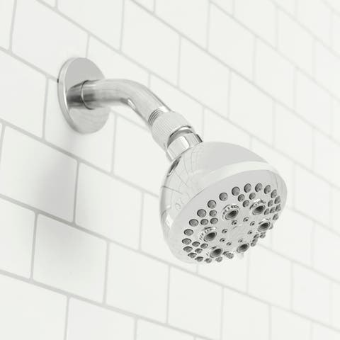Sunbeam Refresh High Pressure Full Coverage 5 Function Fixed Shower Head, Chrome