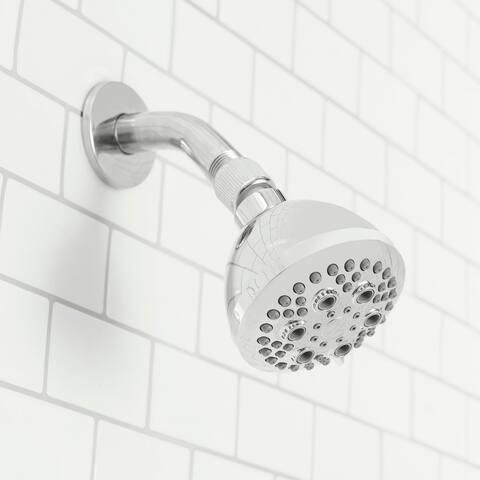 Sunbeam Refresh High Pressure Full Coverage 5 Function Fixed Shower Head, Chrome