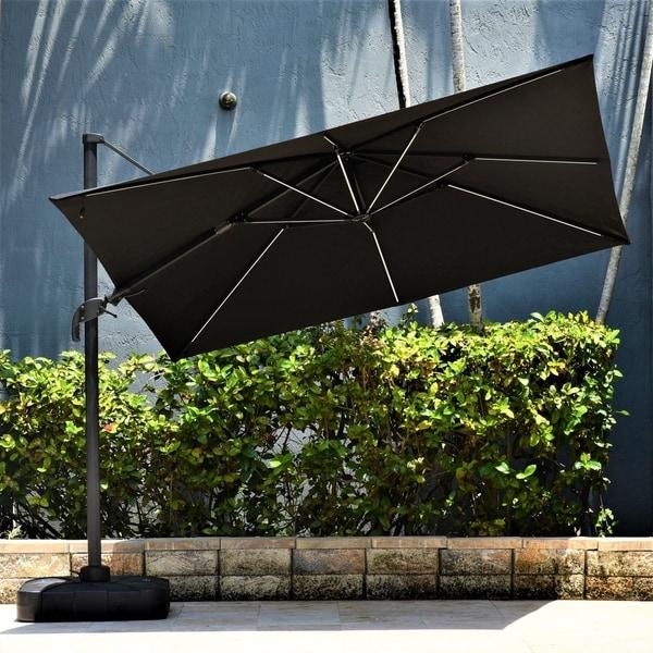 Shop Ravello Deluxe Square Patio Umbrella Led Lights