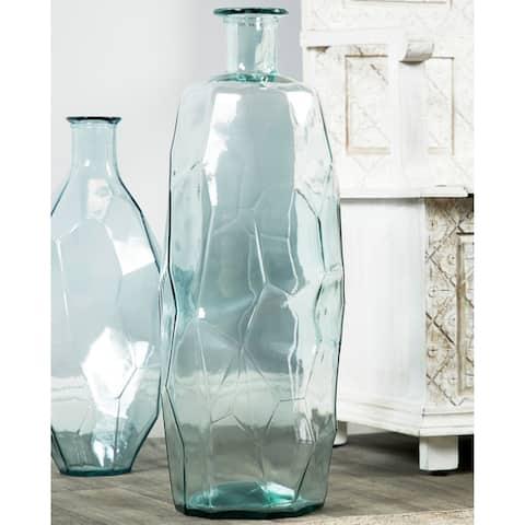 Porch & Den Tarrybrooke Angular Textured Large Decorative Glass Vase
