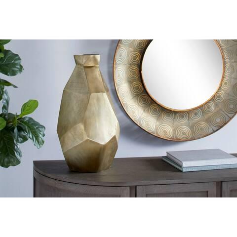 Carson Carrington Hjulslatt Waterproof Modern Metallic Geometric Metal Vase
