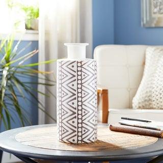 Boho Style Tribal Pattern Cylinder Ceramic Vase
