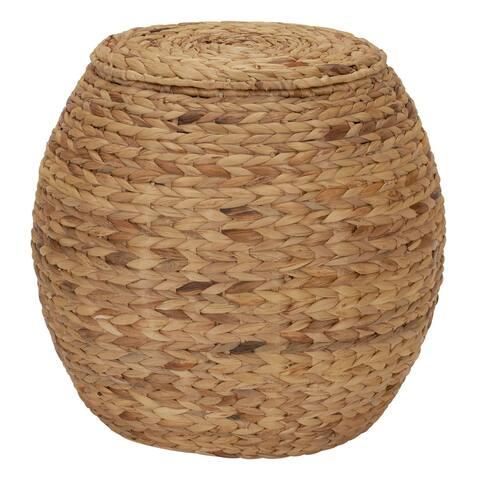 Household Essentials Barrel Storage Tub W-Lid Water Hyacinth