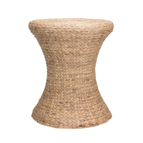 Household Essentials Hourglass Water Hyacinth Wicker Table/Seat