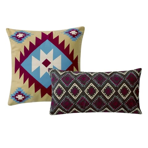 Greenland Home Fashions Southwest Pillow Set (Set of 2 Pillows)