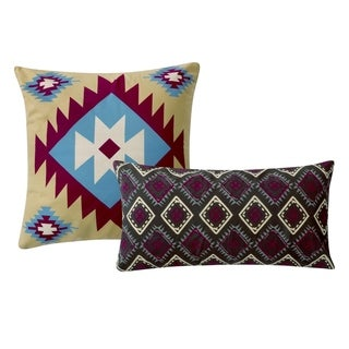 Greenland Home Fashions Southwest Cotton Cover Pillow (Set of 2)
