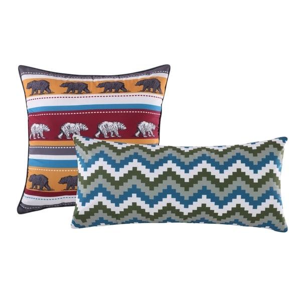 Greenland Home Fashions Black Bear Lodge Pillow Set (Set of 2)