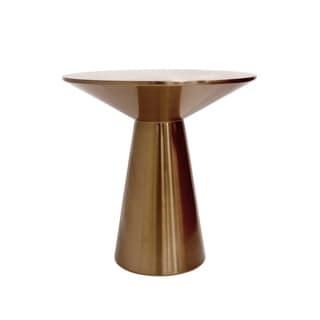 Pasargad Home Lorenzo Collection Stainless Steel Side Table