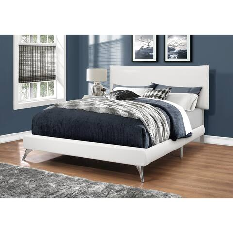 . Buy Queen Size White  Faux Leather Beds Online at Overstock   Our