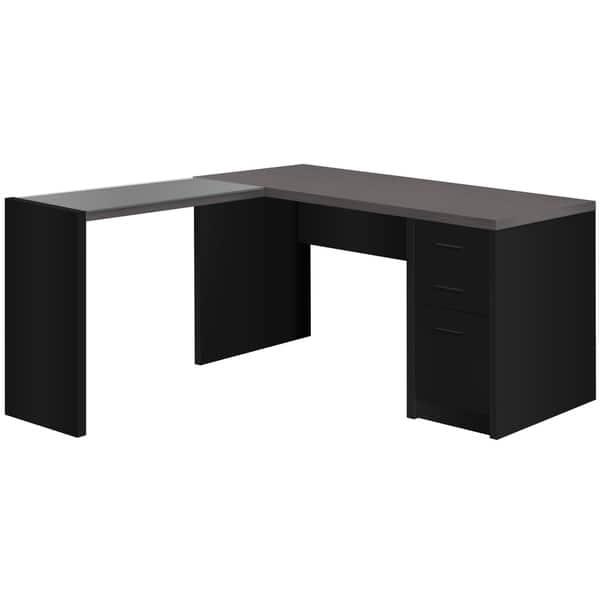 Tempered Gl Corner Computer Desk
