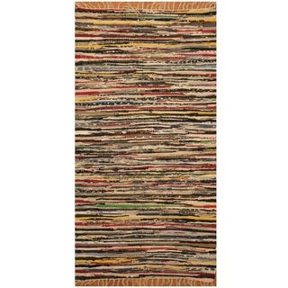 Handmade One-of-a-Kind Wool Kilim (India) - 2'5 x 4'5