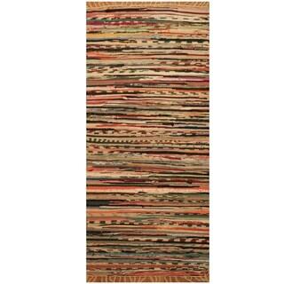 Handmade One-of-a-Kind Wool Kilim (India) - 1'8 x 3'3