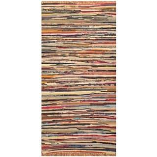 Handmade One-of-a-Kind Wool Kilim (India) - 2' x 3'9