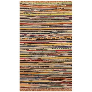 Handmade One-of-a-Kind Wool Kilim (India) - 2' x 3'2