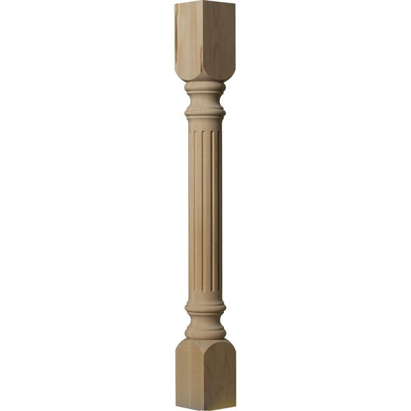 """3 3/4""""W x 3 3/4""""D x 35 1/2""""H Richmond Fluted Cabinet Column"""