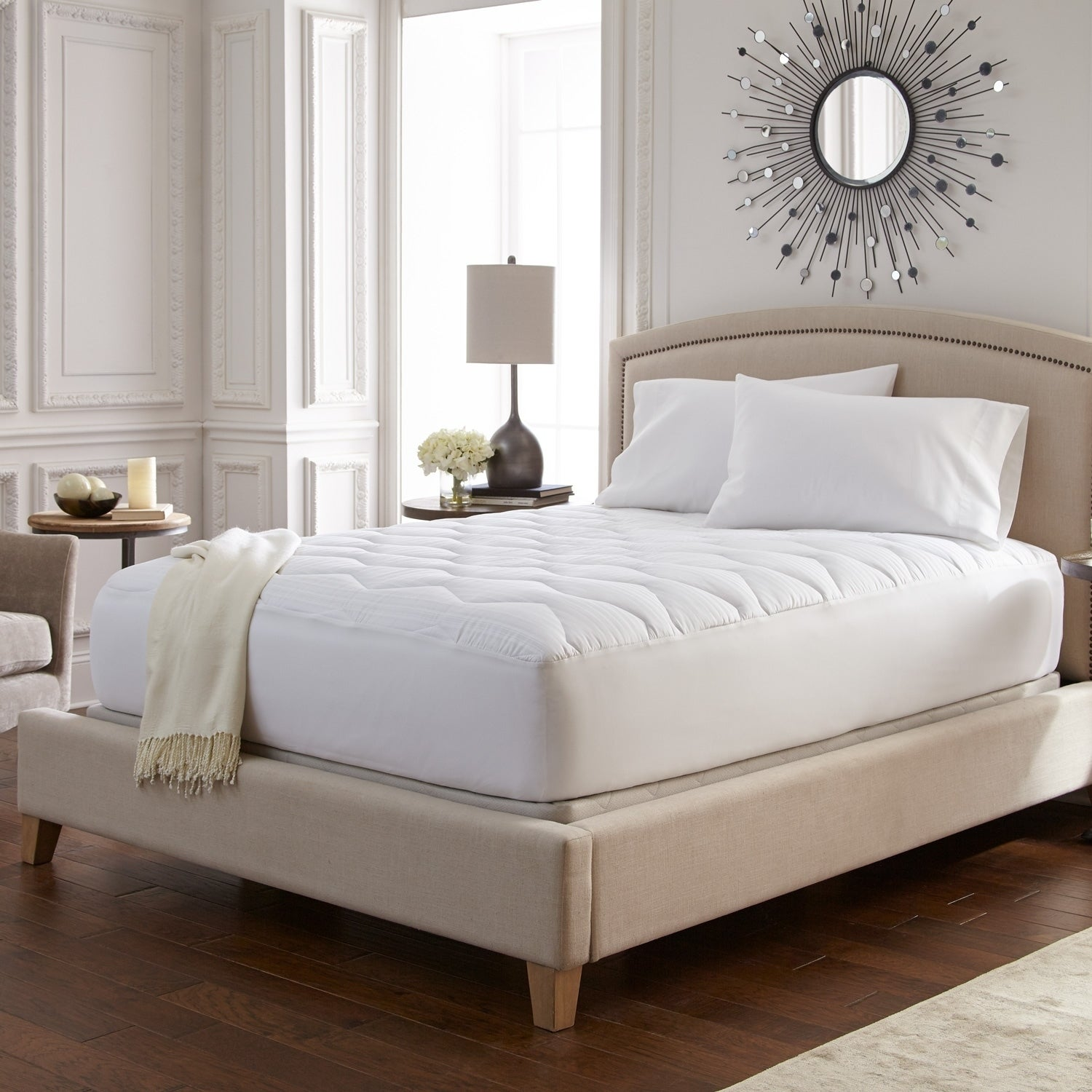Sterns And Foster >> Stearns Foster 600 Tc Covington Plush Mattress Pad White
