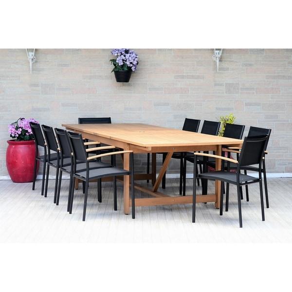 Amazonia Granada Extendable 11 piece Rectangular Patio Dining Set
