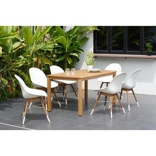 Amazonia Wayra Eucalyptus/Teak Finish 7-piece Rectangular Patio Dining Set