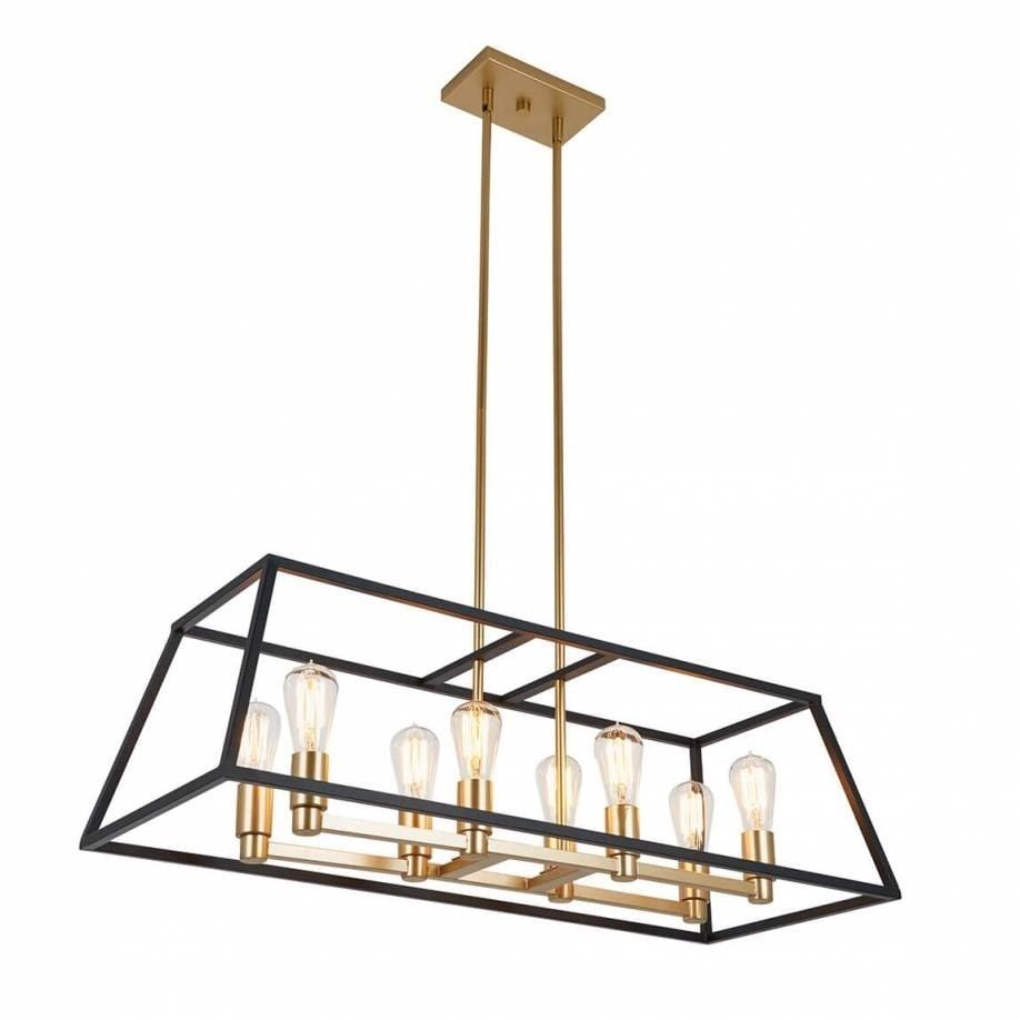Rectangular 8 Pendant Light Fixture