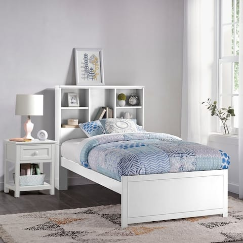 Copper Grove Camberg Twin Bookcase Bed with Nightstand