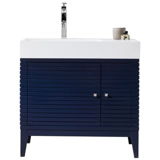 Linear 36-in. Victory Blue Single Vanity by James Martin Vanities