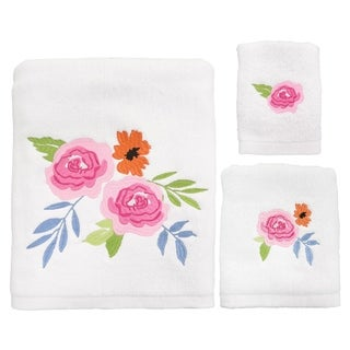 Link to Porch & Den Sora Floral Burst 3-piece Towel Set Similar Items in Towels
