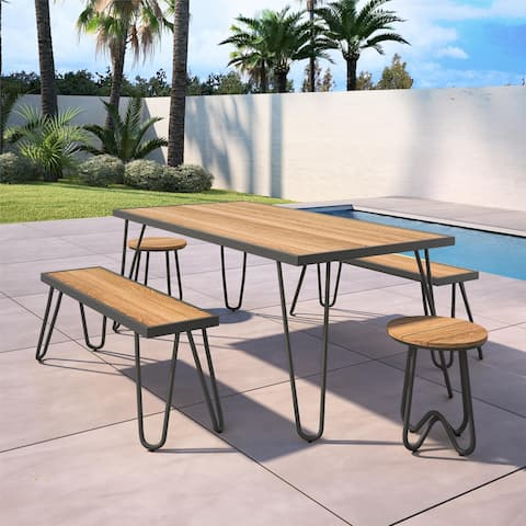 Novogratz Poolside Gossip Collection Paulette Outdoor 5 Piece Dining Set