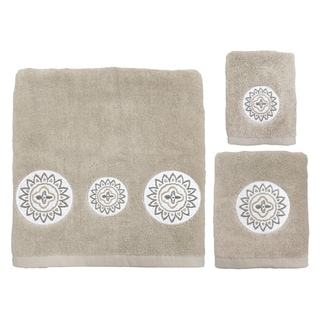 Link to Medallion Ikat 3pc Towel Set Natural Similar Items in Towels