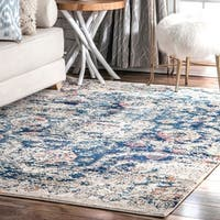 nuLOOM North Transitional Vintage Medallion Area Rug