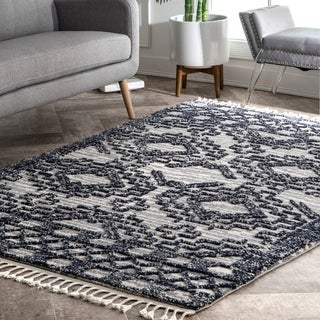 nuLOOM Humphrey Transitional Moroccan Textured Tassel Area Rug