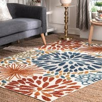 nuLOOM Mcewen Bohemian Contemporary Floral Outdoor Area Rug