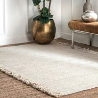 nuLOOM Breana Flatweave Jute and Cotton Blend Area Rug